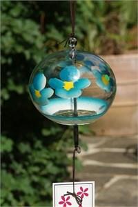 Blaue Blumen Glas Klangspiel