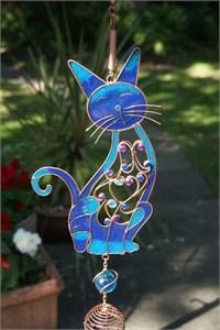 Grosse Blaue Katze Klangspiel