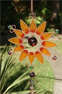 Sonnenblume Klangspiel, gross orange