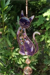 Grosse Violette Katze Klangspiel