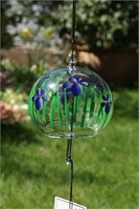 Blaue Iris Glas Klangspiel