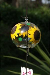 Sonnenblume Glas Klangspiel