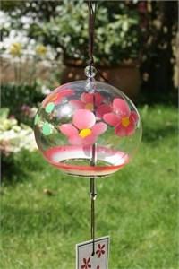 Rosa Kirschblumen Glas Klangspiel